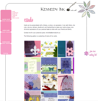 web design by Fusion in Calgary - for Kennedy