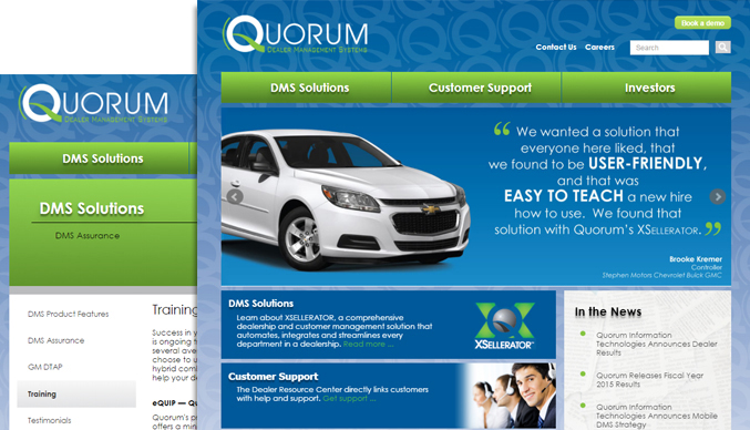 quorum web site design sample