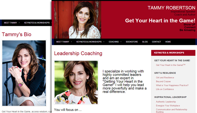 web design sample for Tammy